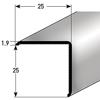 Corner protectors 25x25x1,9 mm - 100 cm - Aluminium - silver coloured - without Tip - self adhesive