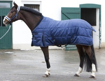 PFIFF 101672 Pferde Stall Decke Orlando, Winterdecke Pferdedecke Stalldecke, Blau 155 cm