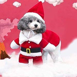 CHY Accessoires pour animaux de compagnie Noël Costumes Costume Père Noël Costume Chien Chat Chiot Combinaison Hoodies Vêtements - s