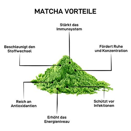 BIO Matcha | Premium BIO Matcha Grün-Tee-Pulver [ Ceremonial Grade ] | Handgepflückt, direkt aus Nishio, Japan | VEGAN | _der Beste auf dem Markt_ | Schmecke den Unterschied!
