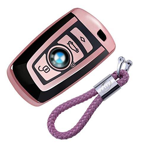 De fibra de carbono de silicona para BMW Smart clave Funda llavero 1/3/5/6/7/Series X1/X3/X4/X5/X6/E87/F20 E92 F35 F34/F31/3/GT 5/GT llavero clave Protective Case F30 E93 E90