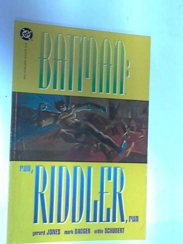Batman Run Riddler Run Book Two of Three