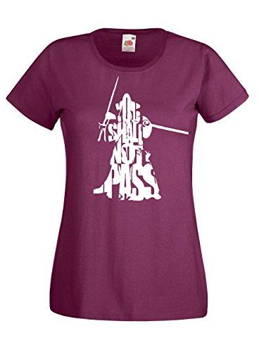 Settantallora - T-shirt Maglietta donna J1206 Gandalf Words Signore Degli Anelli Taglia L