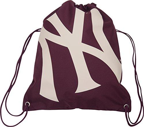 New York Yankees MLB Burgundy Draw String Gym Bag School Sport Sack New York Yankees Tasche