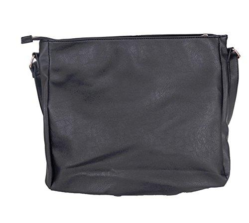 2017 Borsa Della Donna Della Signora Di Modo Della Nappa Messenger Bag Tempo Libero Borsa Tracolla Black