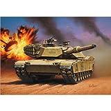 Revell Modellbausatz Panzer 1:72 - M 1 A1 (HA) Abrams im Maßstab 1:72, Level 4, originalgetreue Nachbildung mit vielen Details, 03112
