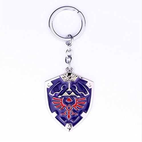 Preisvergleich Produktbild ZELDA Schild Schlüsselanhänger blau