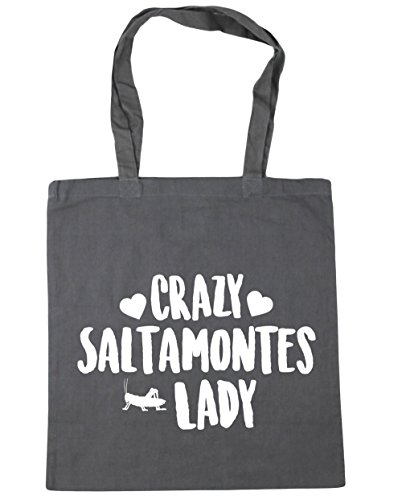 hippowarehouse-crazy-saltamontes-lady-bolso-de-playa-bolsa-compra-con-asas-para-gimnasio-42cm-x-38cm
