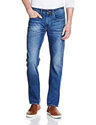 Peter England Mens Slim Fit Jeans (8907306849574_JDN51506939_82/32W x 32L_Medium Blue with Blue)