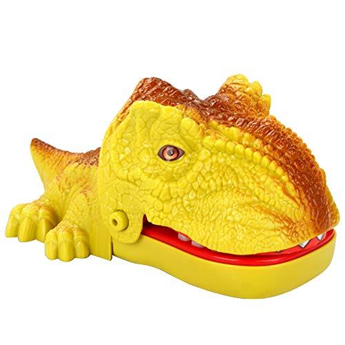 Huhua ㋡Jouets de Doigt mordants Fous de Dinosaure avec Le Jeu de Partie de Son drôle pour la Famille (Jaune)