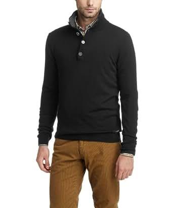 ESPRIT Herren Pullover Regular Fit 103EE2I002, Gr. 48 (M), Schwarz (001 black)