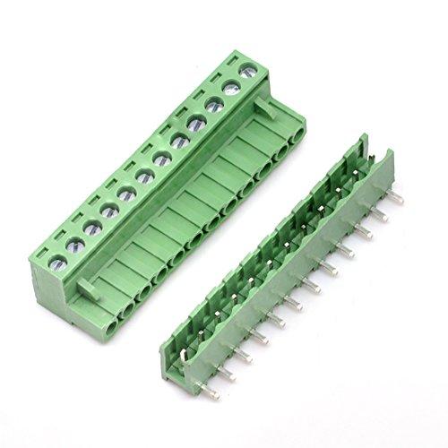 willwin 5,08mm Pitch Rechts Winkel 4pol PCB steckbar Terminal Block Anschlüsse 12P x 5 Set