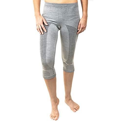 416NJvSi9wL. SS500  - Merino & More Women's Thermal Base Layer Pants - Underwear Leggings 3/4