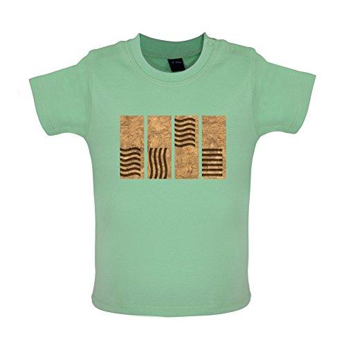 4 Element Stones - Baby T-Shirt - Mintgrün - 12 bis 18 Monate (Element Fünfte Leeloo)