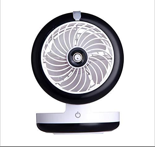 ZUEN Ventilatore antiappannante Manuale, Ventilatore Portatile Ricaricabile Ventilatore Portatile Ventilatore Acqua nebulizzata Regolazione Ventola Raffreddamento Ventilatore umidificatore,Blue