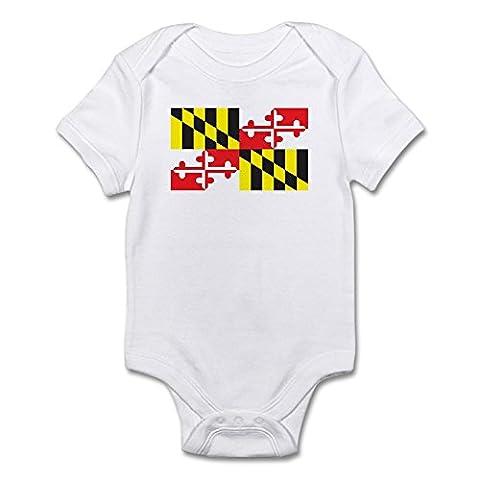 CafePress - MARYLAND-FLAG - Cute Infant Bodysuit Baby