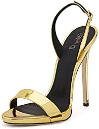 AIWEIYi - Strap alla caviglia donna , nero (Red), 35 EU