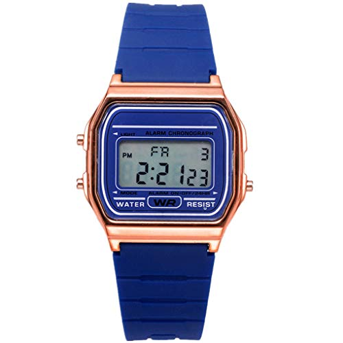 Armband für Herren/Skxinn Unisex Silikon Uhrenarmband,Mode Outdoor Sportuhr,Mode Digital Herrenuhr Damenuhr Ausverkauf(Blau) - Stretch-wochenende