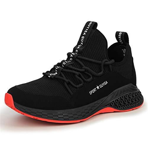 BESKEE Sportliche Sicherheitsschuhe Herren S3 Arbeitsschuhe Damen Leicht Atmungsaktiv Stahlkappen Sneaker 36-48 -