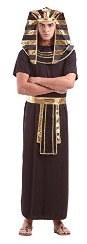 Foxxeo Pharaokostüm Pharaoh Pharao Ägypten Antike Kostüm für Herren Gr. M - XXXXL - Das Alte Ägypten Kostüm