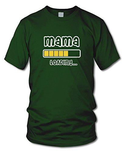 shirtloge - MAMA LOADING... - KULT - Fun T-Shirt - in verschiedenen Farben - Größe S - XXL Dunkelgrün