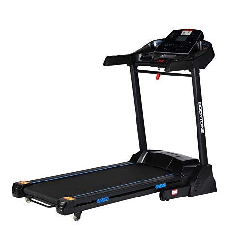 BT BODYTONE - DT-18 - Cinta de Correr Profesional Plegable para Fitness con Pulsómetro - Pantalla LED - Conexión con MP3 - Altavoces Integrados - Peso Máximo Usuario 140 kg