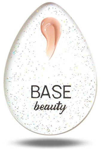 Basis Beauty Blender Make-up Schwamm Teardrop Schönheit Applikator für präzise Anwendung und Vermischen Ideal für Flüssiggrundierug BB Cream & Concealer hygienisch makelloses Finish.