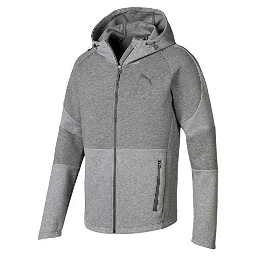 Puma Herren Evostripe Move Hooded Jacket Sweatjacke Medium Gray Heather XL Preisvergleich