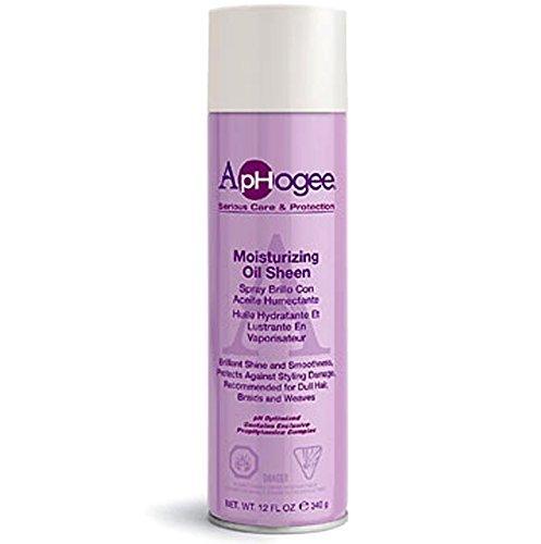 Aphogee Moisturizing Oil Sheen Spray 12oz by APHOGEE BEAUTY (English Manual)