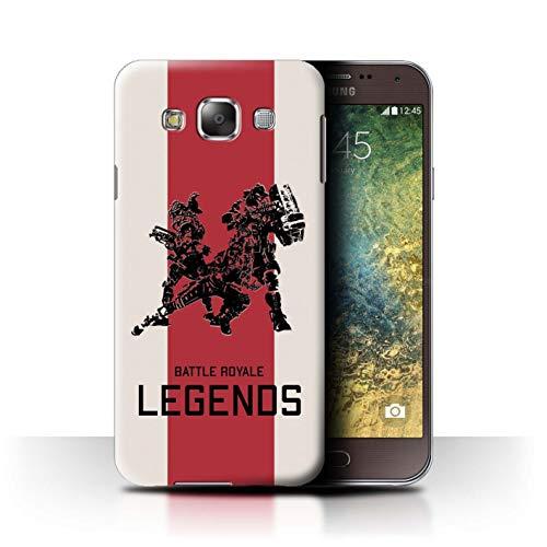W3Tech Hülle/Case für Samsung Galaxy E5/E500 / Legendär Muster/Kampf Royale Legenden Kollektion
