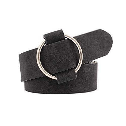 Cintura da donna moda cintura in morbida ecopelle cintura per jeans abito larghezza 3 cm
