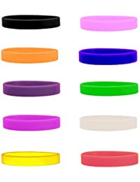 Silicone Wristbands Pack of 10 Choose from 10+ Colours