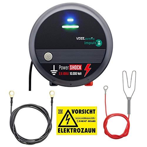VOSS.farming 230V Weidezaungerät mit PowerShock | gefühlte 5,2 Joule und 10.000V schlagstarkes Elektrozaungerät für Ihren Sicheren Weidezaun