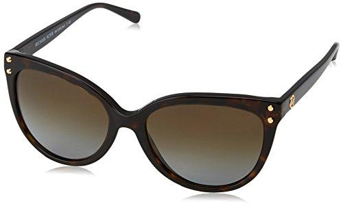Michael Kors Damen JAN 3006T5 55 Sonnenbrille, Dark Tortoise Acetate/Browngradientpolarized,