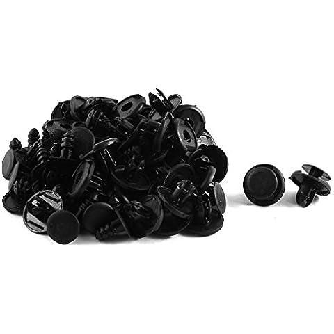 50 uds Remaches de Plástico Negro Alfombra Clips para Alineado Arco Ruedas 8mm x 19mm x 10mm