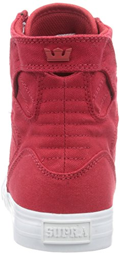 Sneakers WHITE RED Supra Hohe Unisex RED SKYTOP D Rot Erwachsene 4znZB8