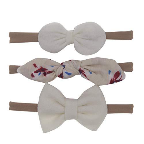 VRTUR 3 Stück Baby Stirnbänder Baby Mädchen Kids Turban Haarband Stirnband Kopfband Baby schmuck Babyschmuck Babygeschenke & Taufe