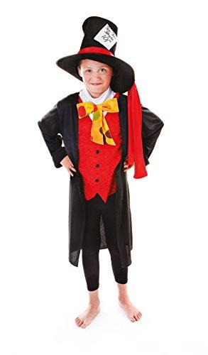 Bristol Novelty CC944Mad-Hatter-Kostüm, mittlere Größe, 134 cm, Alter ca. 5-7 Jahre (134 cm).