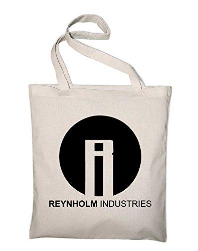 Reynholm Industries The IT Crowd Logo Jutebeutel, Beutel, Stoffbeutel, Baumwolltasche, gelb Natur