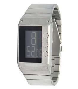 Lip Style - 1038512 - Montre Homme - Quartz Digital - Cadran LCD - Bracelet Acier Argent
