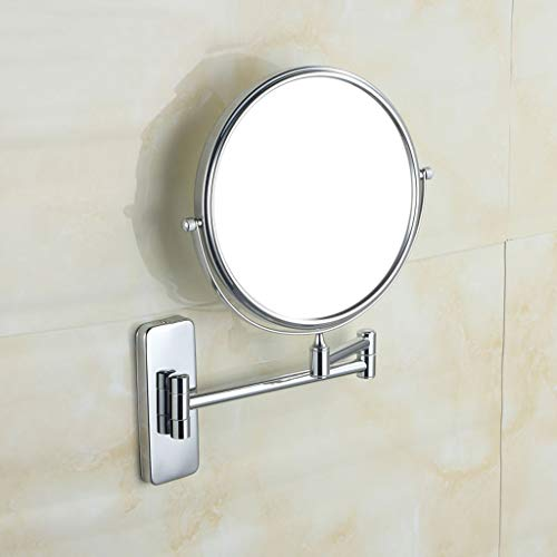 PLL Badezimmer Make-up Spiegel Alle Kupfer Teleskop Teleskopspiegel Bad Wandhalterung Doppelseitige Lupe