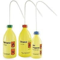 Laborshop24 - Sicherheitsflasche Enghals mit Gefahrenaufdruck, Polyethylen, 1000 ml, Spritzflasche