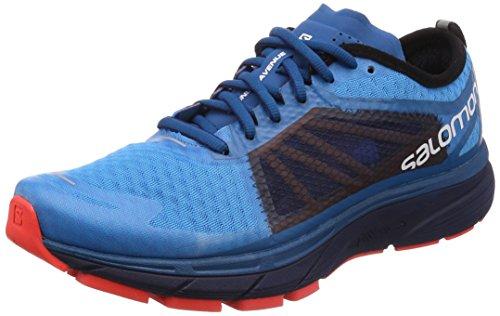 Salomon Sonic Ra, Zapatillas de Trail Running para Hombre, (Hawaiian Surf/Medieval Blue/Fiery C 000), 44 EU