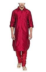 Mens Silk Blend Pathani Long Kurtas By Royal Kurta