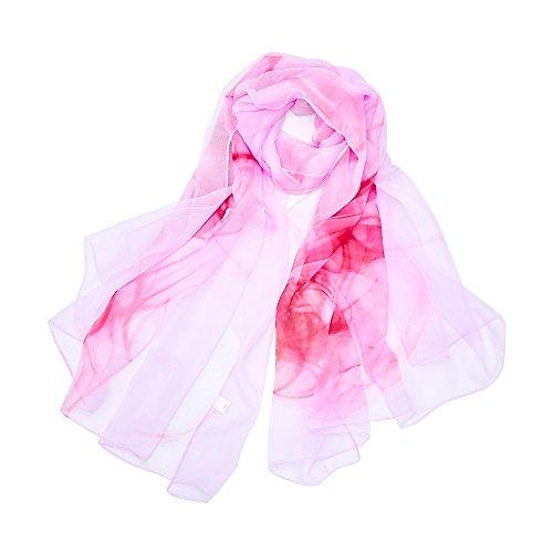 LD Pañuelo Cuello Mujer Seda de Hielo Fular Bufanda Estola Chal Ideal for  Playa o Regalo c3fe8547080
