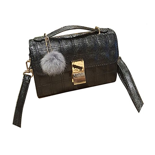 Wickeltasche Karierte (ASDYY Damebeutel Neue Gitterumhängetasche Lässige Umhängetasche Retro-Party-Tasche Mobile Handtasche,Black-OneSize)