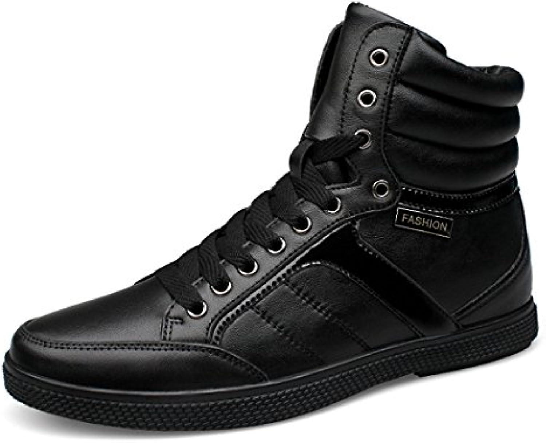 ZQ@QXTranspirable zapatos de hombre de cuero retro hombres zapatos de cuero mano alta botas,solo zapatos,36