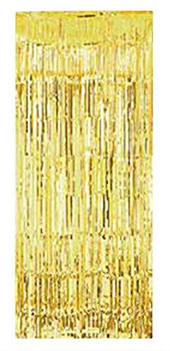 erdbeerloft - Silvester Weihnachts Glitzer Tür Dekoration Vorhang, Gold