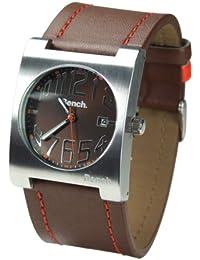 Bench BC0017BR - Reloj de caballero de cuarzo, correa de piel color marrón