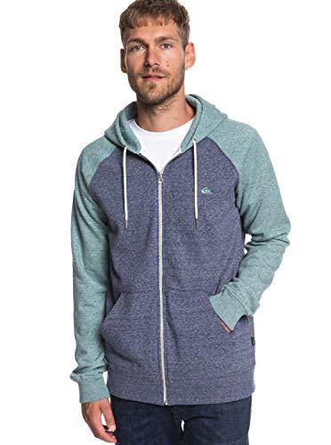 Quiksilver Herren Everyday Zip Fleece Top, Medieval Blue Stormy Sea HTH, L